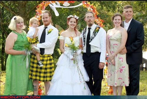 fairy wings,fantasy wedding,funny wedding photos,kilt