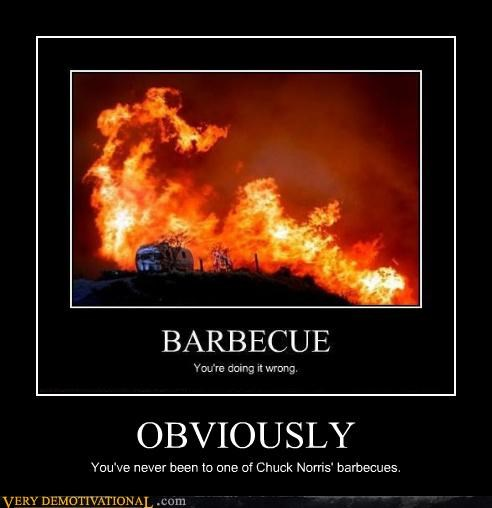 OBVIOUSLY You've never been to one of Chuck Norris' barbecues.