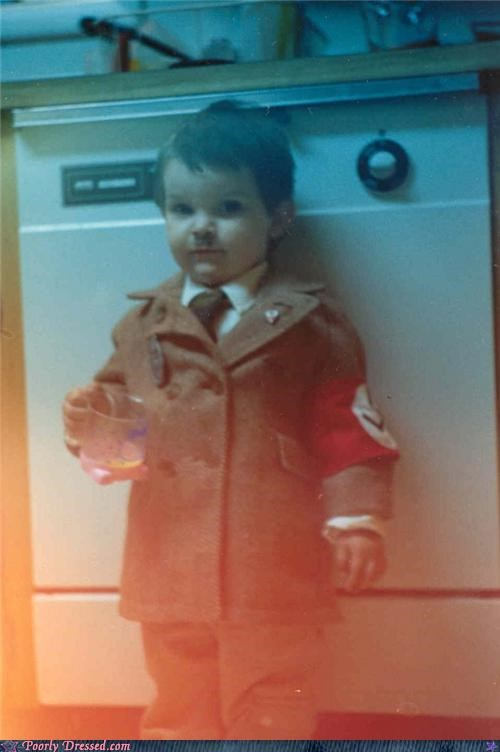 costume,halloween,hitler,kids,not cool