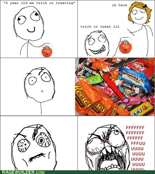 candy,halloween,pencil,Rage Comics,trick or treat
