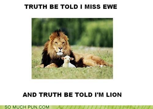 ewe homophone homophones lion literalism lying truth you - 4690902016