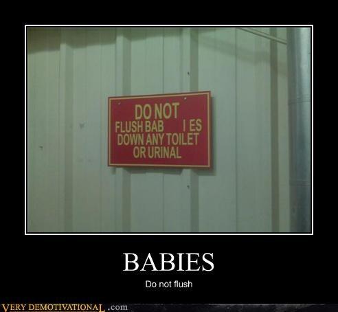 Babies good idea hilarious sign - 4690908160