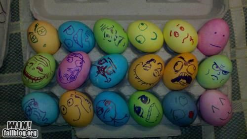 art easter eggs holidays Memes rage faces - 4691288576