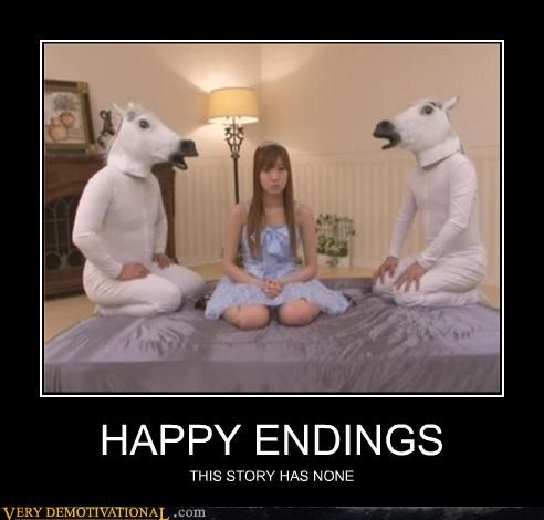 happy ending,horses,Japan,masks,Terrifying,wtf