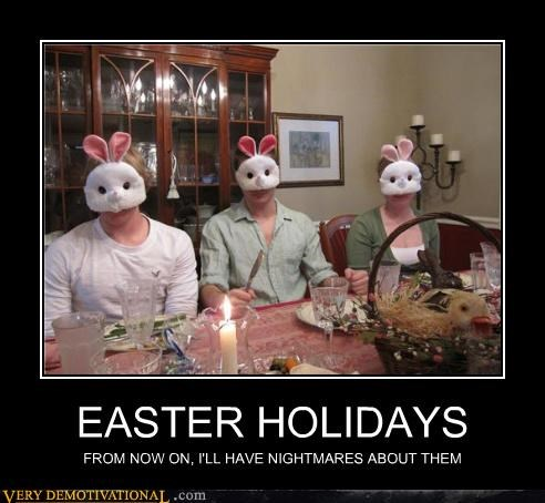 dinner,easter,family,masks,scary,Terrifying