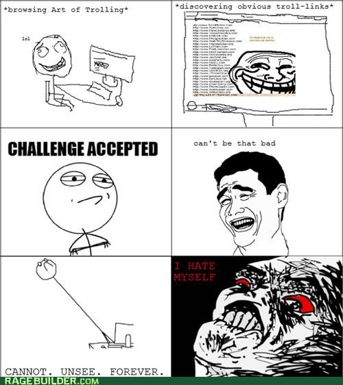 Challenge Accepted,memebase,Rage Comics,tricked,trolling