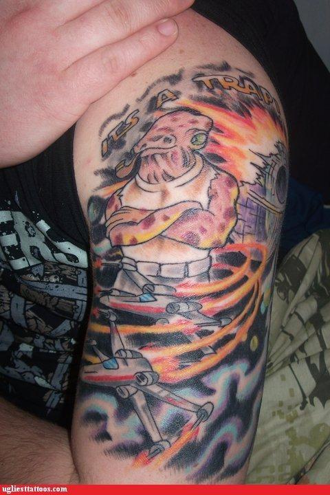 wtf,admiral ackbar,tattoos,pipe,funny
