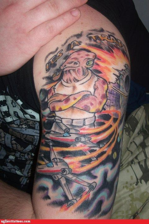 wtf admiral ackbar tattoos pipe funny - 4691934976