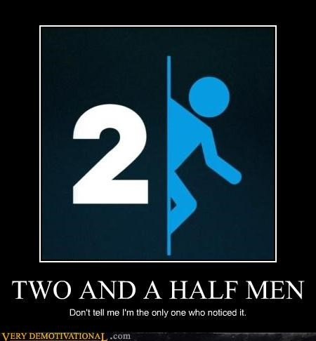 hilarious,portal 2,TV,two and a half men,video games