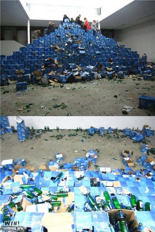 alcohol beer pyramid stacking - 4692188160