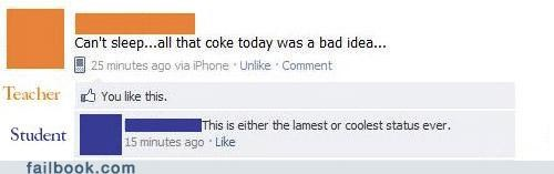 coke school teacher witty reply