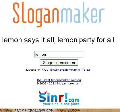 lemon lemon party shock sites