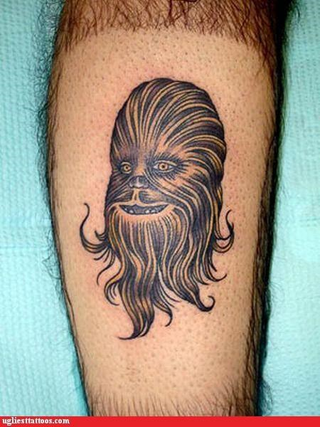 star wars,chewbacca,tattoos,funny
