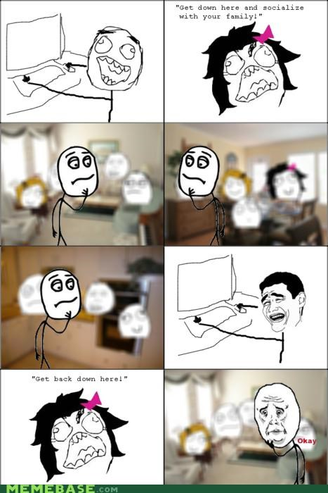 computer family Party Rage Comics thanksgiving ugh - 4692393728