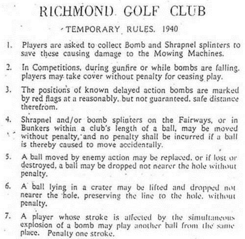 From The Archives,Richmond Golf Club