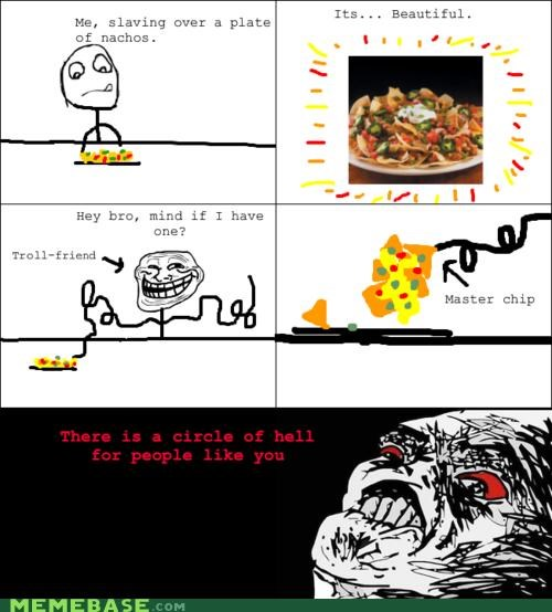 cheese chips friends nachos Rage Comics troll - 4692448512