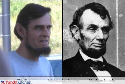 abraham lincoln,political pictures,totally looks like