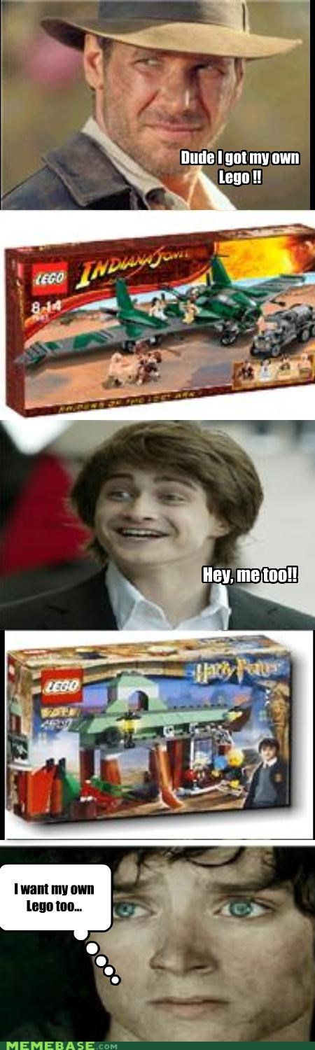 celebutard,frodo,Harry Potter,Indiana Jones,lego
