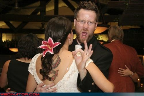 dance funny wedding photos groom tattoo