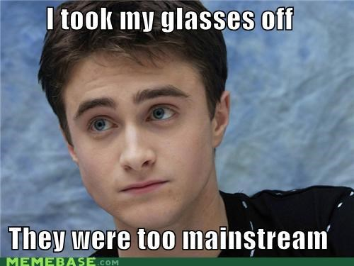 glasses,Harry Potter,hipster,hipster-disney-friends,mainstream,sight