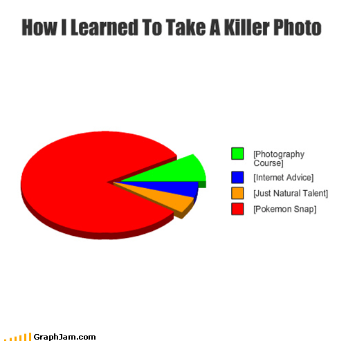 photography,Pie Chart,Pokémon,snap,video games