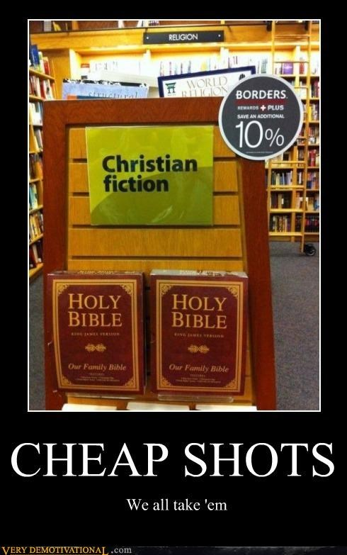 bible,cheap shots,christian