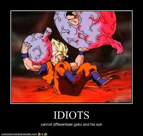 IDIOTS cannot differentiate goku and his son