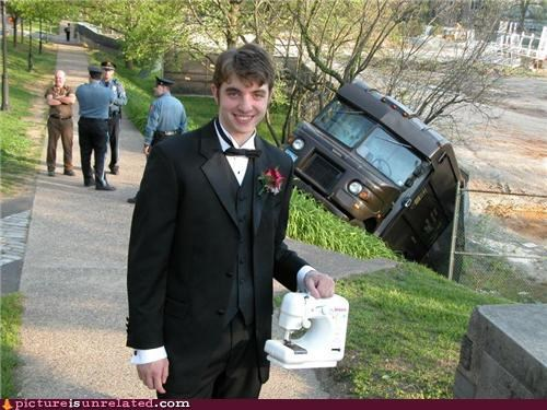 sewing machine,tux,UPS,wtf