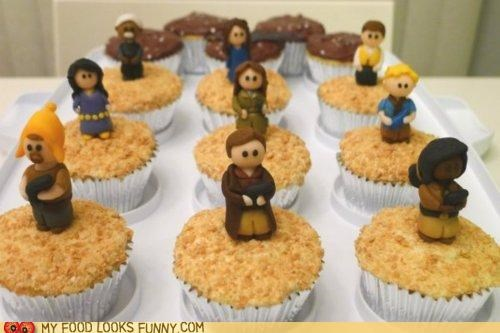 characters,cupcakes,Firefly,fondant