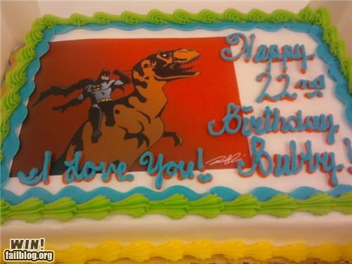 batman,birthdays,cakes,dinosaurs,food,t rex