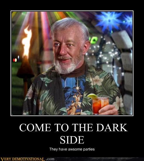 dark side,hilarious,obi-wan kenobi,parties,star wars