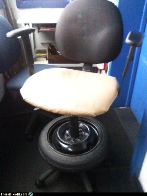 bad pun clever DIY Office office chair spare tire - 4694139904