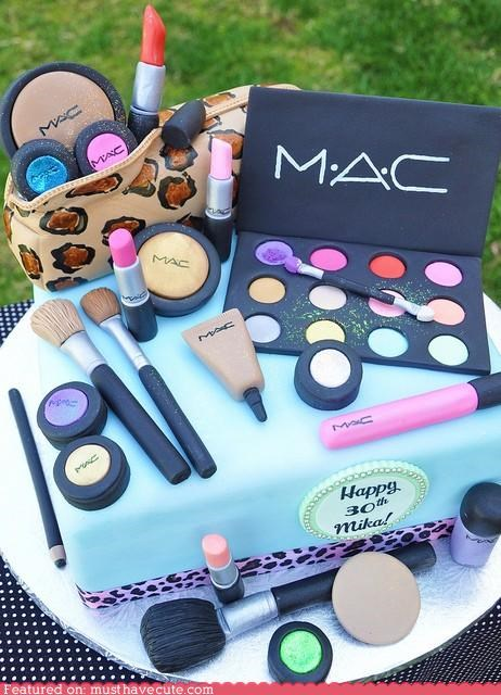 birthday,cake,cosmetics,epicute,fondant,mac,makeup
