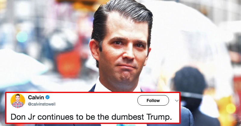 Donald Trump Jr. failed three times today on Twitter, and the internet is caught up in a fit of laughter.