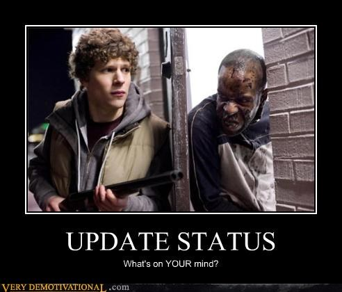 face book,hilarious,social network,status,zombie