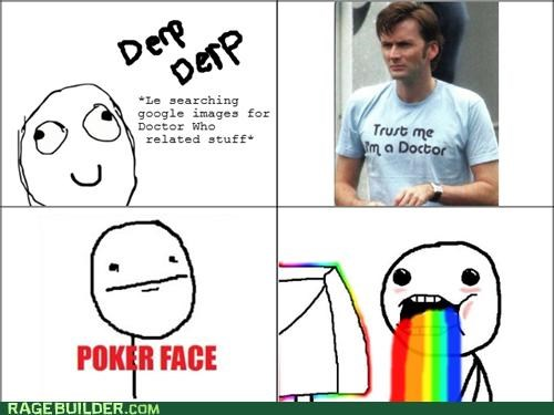 doctor who fangasm google Rage Comics rainbow
