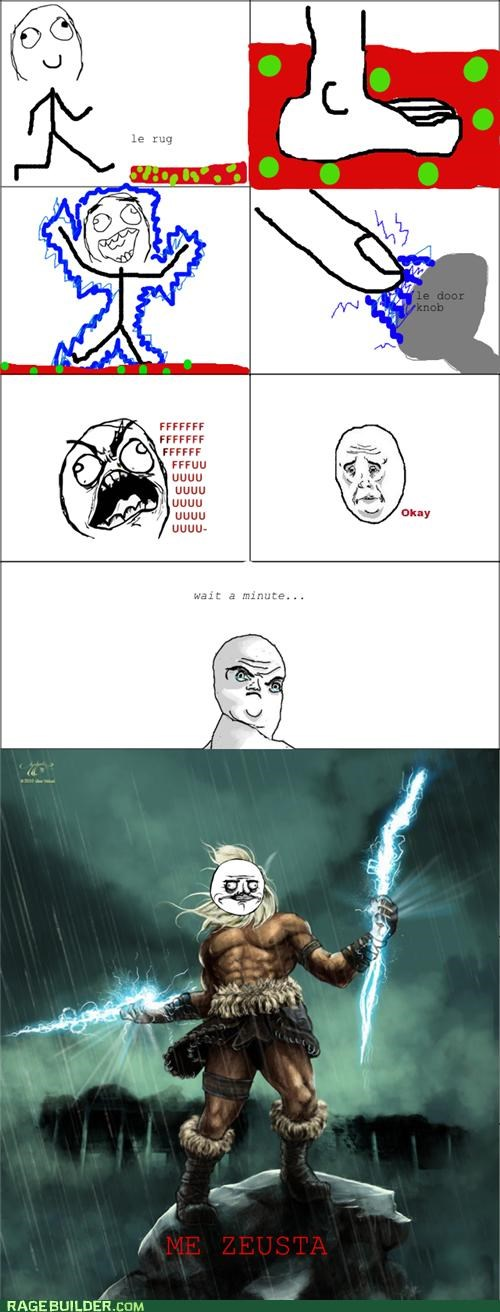 electricity,lemons,life,Rage Comics,Zeus