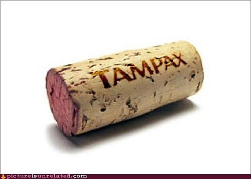 awesome cork Tampax wine wtf - 4695094272