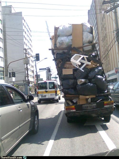 overkill,towing,trash,truck