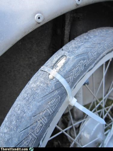 bicycle,bike tire,dual use,zip tie