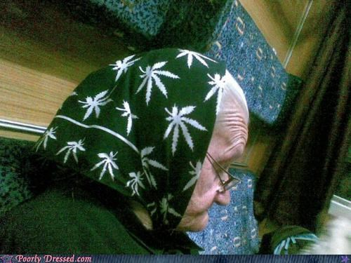 accessories,geriatric,head gear,marijuana
