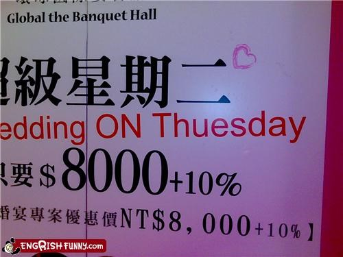 engrish Thursday wedding week wtf - 4696179200