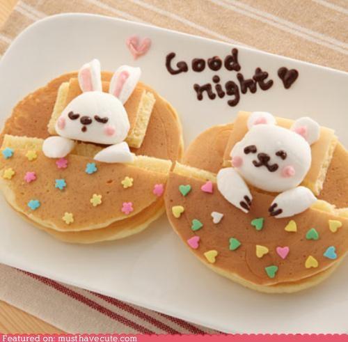 bear bed blanket bunny epicute pancakes sleepy - 4696212224