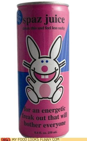 annoying bunny buzz caffiene energy drink spaz juice