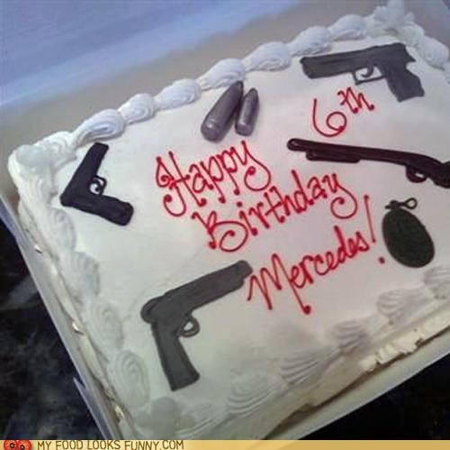 birthday bullets cake decorated firearms frosting guns