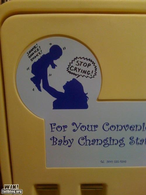 baby changing Bathroom Graffiti hacked sharpie - 4696385792