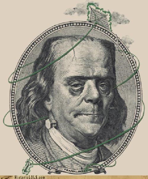 art,ben franklin,funny,monster,shoop