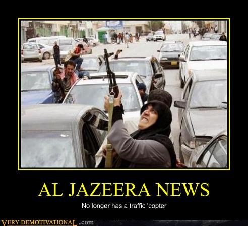 al jazeera guns helicopter hilarious news