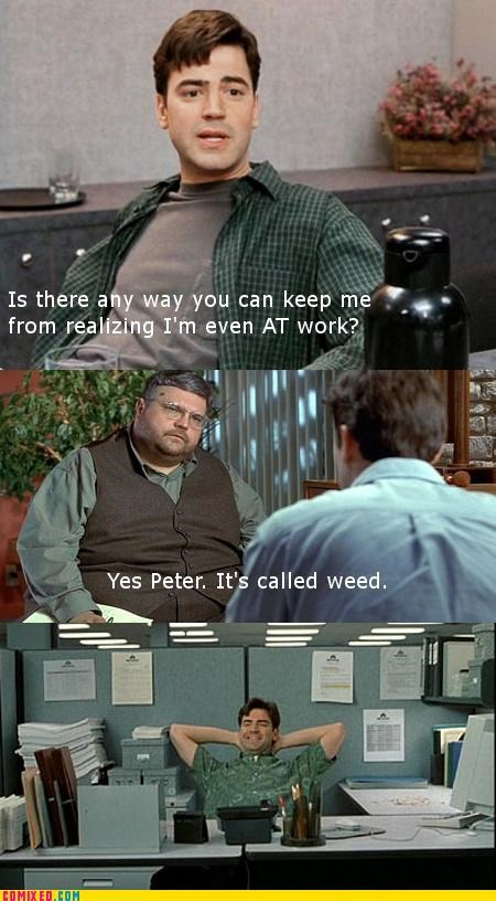 drugs From the Movies Office Space weed work - 4696662016
