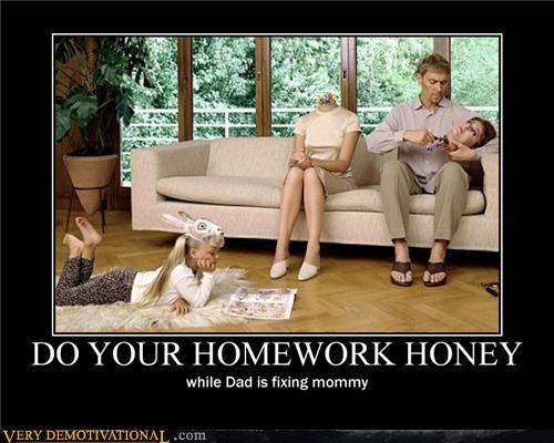 homework kid mom robot